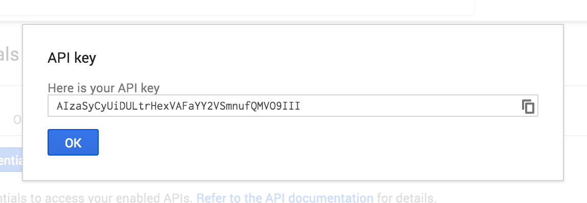 gmaps api key done
