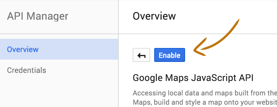 google maps api enable